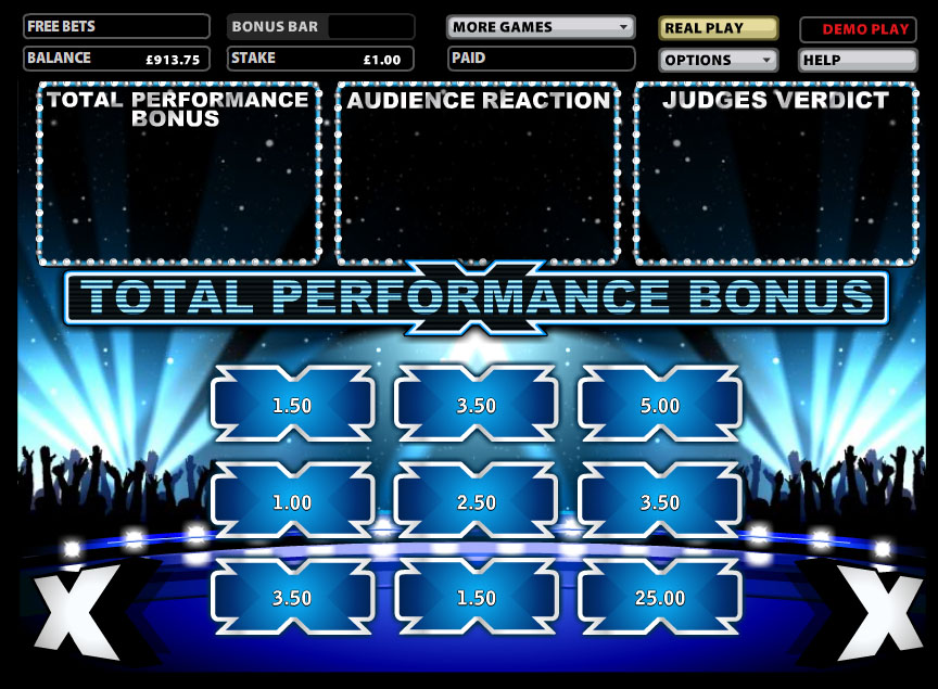 x factor slot machine online